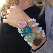 Genuine Druzy Bracelets * Stretch Gem Bracelet * Druzy