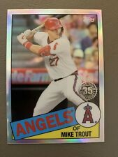 2020 Topps Chrome Mike Trout 1985 35th Anniversary #85TC-1 - Los Angeles Angels