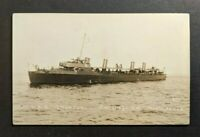 Mint Vintage USS Tructun San Diego CA RPPC Real Photo