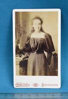1880/90s CDV Photo Carte De Visite Victorian Young Lady Hellis London