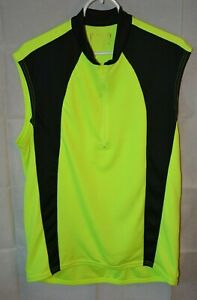 Used Bicycle Jersey Sleeveless Neon Yellow With Black Outline For USA Charity!!!