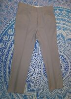 Vintage Levi's Panatela Action Slacks Flat Front Tan Plaid Straight Leg 34x31