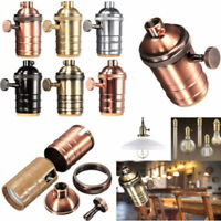 E27 Screw Retro Vintage Edison Copper Lamp Pendant Light/Bulb Holder Socket New