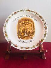"Holly Hobbie Plate ""Happy Memories Warm The Heart� Vintage 1972"