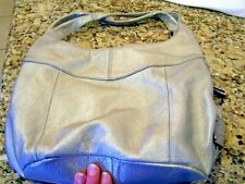 Tignanello silver hobo bag/purse/pocketbook/handbag, signature lining