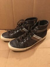 BIKKEMBERGS Mens Brown Suede Leather Mid Top Sneaker Shoes EUR 41 US 10 - 10.5