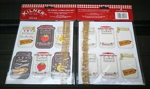 Kilner 13 Piece Jam Jar Labelling Set - Make the perfect homemade gift - NEW