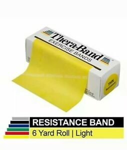 YELLOW Theraband 6 Yard / 18 Feet Exercise Band Physical Therapy New Resistive