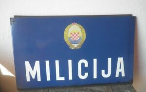 CROATIA    communism period  police station entrance enamel sign