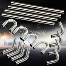 "2"" Custom Exhaust Tubing Mandrel Bend Pipe Straight & U-Bend Kit 16PCS"