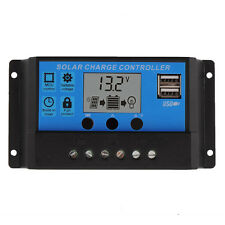 30A Solar Charge Controller PWM 12V 24V Auto Work With LCD Charger Regulator