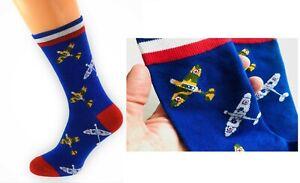 Spitfire Mens Novelty Socks, RAF Aeroplane Aircraft Pilots. Christmas Birthdays