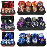 12Pcs Beyblade Burst Blue Set Cho-Z Valkyrie / Turbo Valtryek With Launcher Gift
