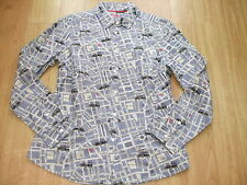 BODEN COTTON  STREET MAP OF LONDON  SHIRT SIZE 12 PETITE BNWOT