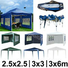 2.5x2.5 3x3 3x6m Party Tent Sides Pop Up Marquee Gazebo Garden Canopy Heavy Duty