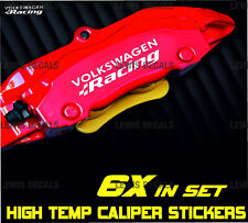 VW R Racing Caliper Stickers Kit High Temp Quality Decals 6x Fast Dispatch