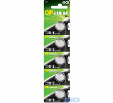 5 x GP CR2016 3V Lithium Button Battery Coin Cell DL2016 EXPIRY 2027