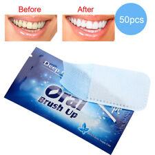 50X Zahnweiß Zahnaufhellung Streifen Wipe Cloth Whitestrips Zahn Bleaching ☆