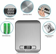 Food Digital Kitchen Weight Scale Grams and Oz, Small, Stainless Steel Etekcity