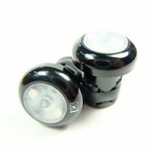 Gearoop Bike Bicyble Handlebar End Lights w/o CR1632 Battery CPG-009 Black MIT