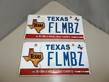 90s TEXAS license plates FLMBZ personalized Film Biz Like A Whole Other Country