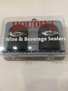 HOUDINI 2 Wine Champagne Beverage Cola Soda Sealers Air-tight-New In Box