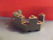 Lego--6066--Burgzinne--Grau/OldGray--4 x 8 x 2 1/3 --Ersatzteil-