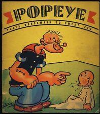 1937 Popeye Plays Nursemaid To Sweet Pea Whitman Picture Book #884 E.C. Segar