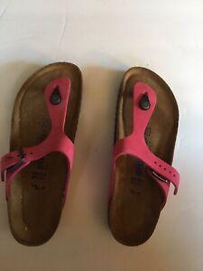 Birkenstock Women's Gizeh Sandal Birkibuc  Pink Gizeh 38-245