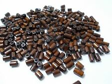 300pcs 8mm x 5mm WOODEN Small TUBE Spacer Beads - DARK BROWN Craft Wood