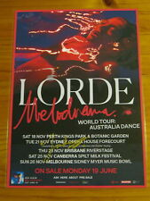 LORDE - MELODRAMA - SIGNED AUTOGRAPHED 2017 Australia Tour Poster - Laminated