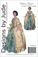 "Outlander Claire Fraser Sewing Pattern for 16.5"" RTB101 Body Doll Tonner Poldark"