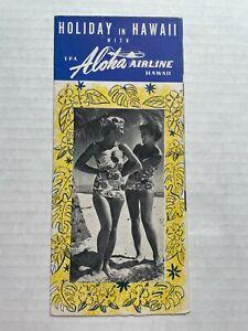 1950's TPA Aloha Airlines Hawaii Travel Brochure