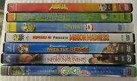 LOT OF CHILDREN DVD MOVIES KUNG FU PANDA SHREK SPONGEBOB MINIONS & OTHERS VGUC