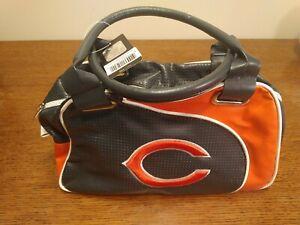 NFL Chicago Bears Bowler Bag Purse Hand Bag NFL Team Logo Women Bag