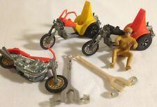 Mattel Hot Wheels Rrrumbler Lot vintage Squealers, Road Hog, Rider, Track Guides