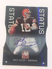 Colt McCoy 2011 Donruss Elite Status Auto/Autograph #1/1 Browns/Texas