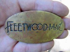 Vtg FLEETWOOD MAC Belt Buckle ROCK BAND Concert Nicks Album ART Music RARE VG+