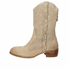 women's shoes MOMA 7 (EU 37) ankle boots beige suede AE866