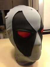 Halloween Lycra spandex zentai wrestling superhero grey deadpool hood/mask S-XXL