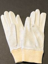 Vintage 1970s Pair Of Fabric Ladies Gloves - Silver Metallic