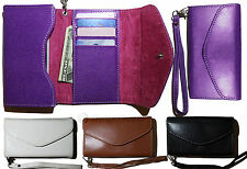 Universal Wristlet Wallet Case For iPhone 3 4 4S 5 5S Samsung HTC One & More