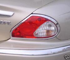 Chrome Tail Light Trim Rings 2002 2003 2004 2005 2006 2007 2008 Jaguar X Type (Fits: Jaguar X-Type)