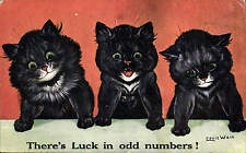 Louis Wain. There's Luck in Odd Numbers by J. Salmon # 873.