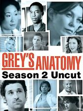 Greys Anatomy - Season 2: Uncut (DVD, 2006, 6-Disc Set) *Like New* Genuine