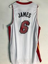 Adidas Swingman NBA Jersey Miami Heat Lebron James White sz 2X