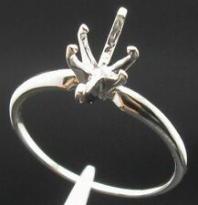 Free Shipping 925 Sterling Silver 5x10mm Marquise Shape Semi Mount Ring Jewelry
