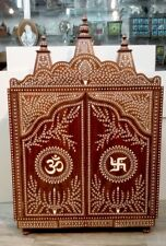 Large Rosewood Handmade Indian Inlaid Temple 4 Feet Height With Doors
