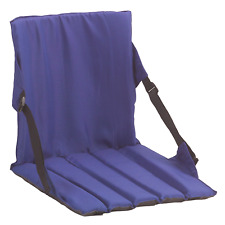 Coleman Blue Stadium Seat Bleacher Foldable Padded Cushion Outdoor Camping Fun