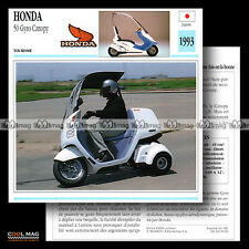 #090.02 HONDA 50 GYRO CANOPY 1993 Fiche Moto Motorcycle Card